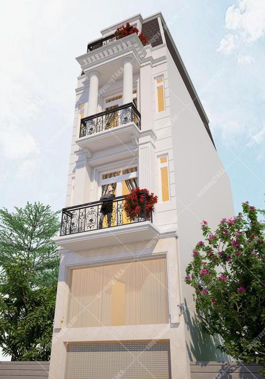 Thiết kế nhà phố có tầng lửng 4m Cityland Gò Vấp