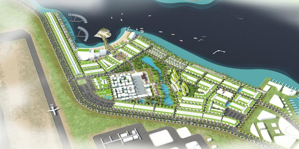 Bán đất, full thổ cư giá 11tr/m2 sổ đỏ view Đầm Thủy Triều, gần sân bay quốc tế CR, 0917678685