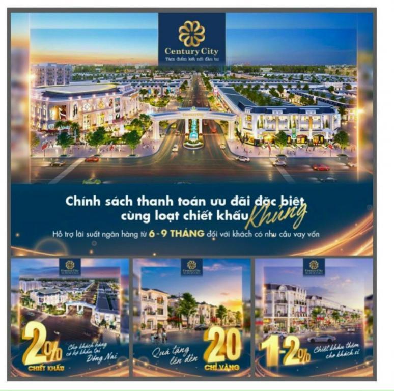 Đất nền khu Tái Định Cư sân bay Long Thành, CK 20 chỉ vàng SCJ