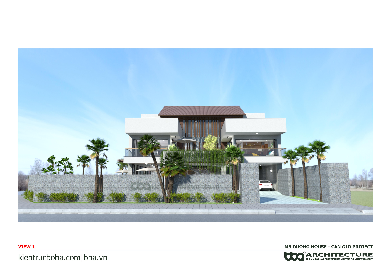 Thiết kế biệt thự Ms. Dương | Cần Giờ | Kiến trúc Bộ Ba
