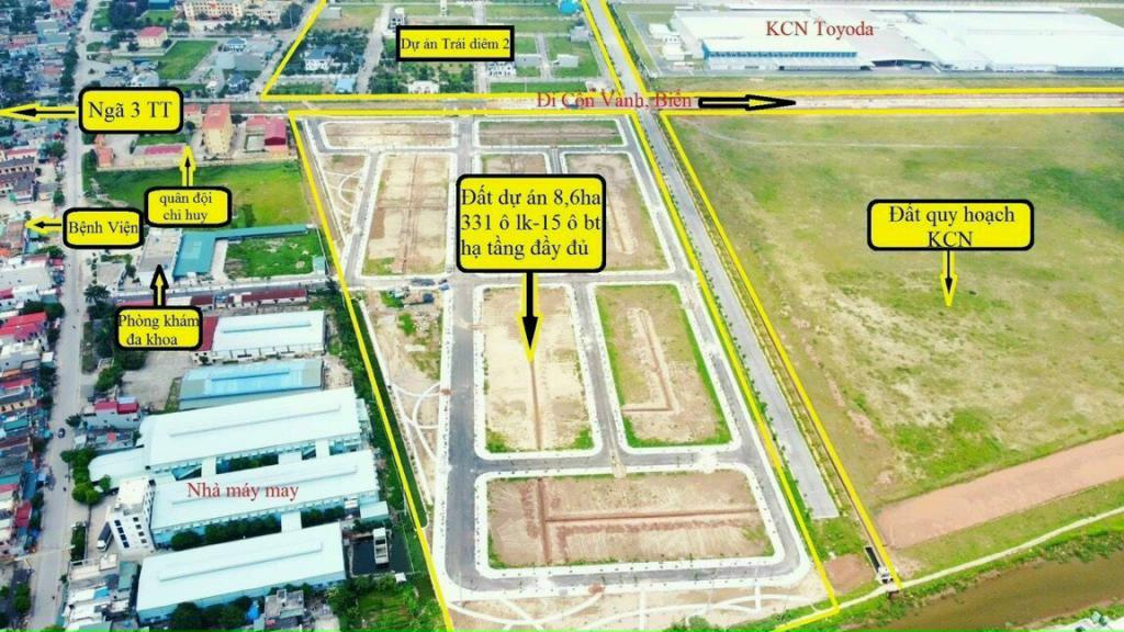 Bán lô đất nền biệt thự ngay mặt đường trục chính dự án Tiền Hải Center City