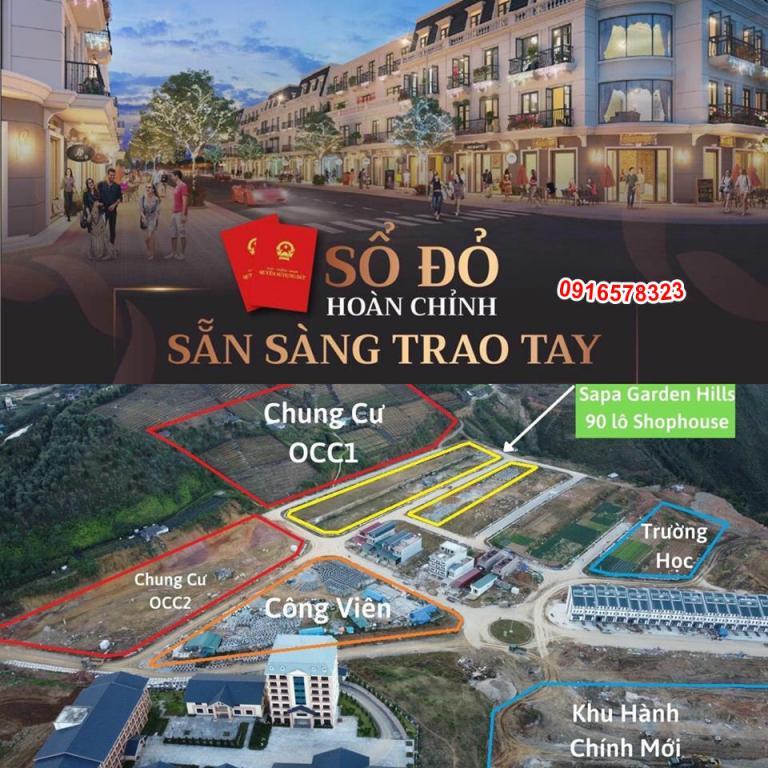 Cần Bán Đất Nền Dự Án Shophouse SaPa Garden Hills Lào Cai