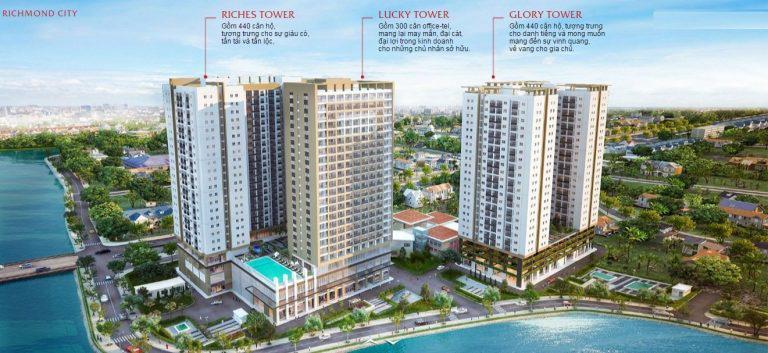 Bán căn hộ Richmond City, Nguyễn Xí, 73 m2, tầng cao, 3,9 Tỷ.