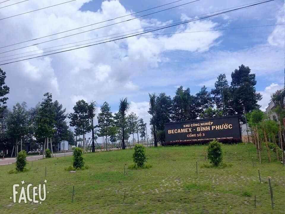 Cần bán gấp lô đất nằm trên Ql13 gần KCN Becamex , Chơn thành, Bình phước