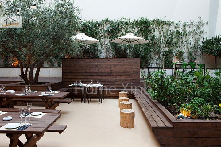 Thiết kế nội thất nhà hàng sân vườn với phong cách gần gũi đời thường