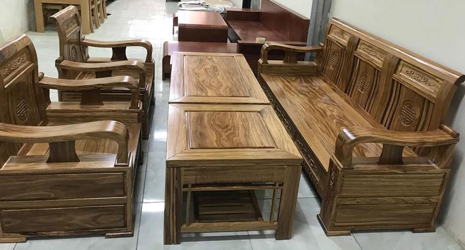 Sofa gỗ óc chó BG241