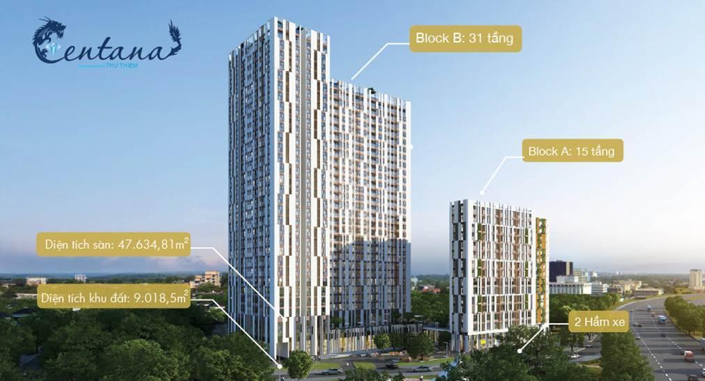 Dự án căn hộ cao cấp Centana Thủ Thiêm , Quận 2 - HCM