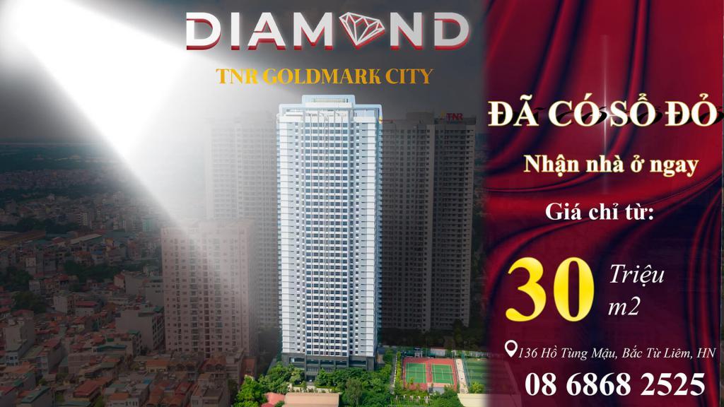 Diện Tích 134,5m2 Hot Nhất Bắc Từ Liêm, Goldmark City Diamond Giá 29tr/m2.