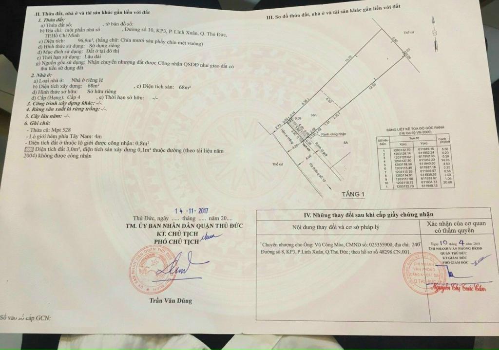 Bán đất tặng nhà hẻm xe hơi chỉ 38 triệu/m2 Rẻ Nhất Linh Xuân. Giá : 3,95tỷ bớt Lộc