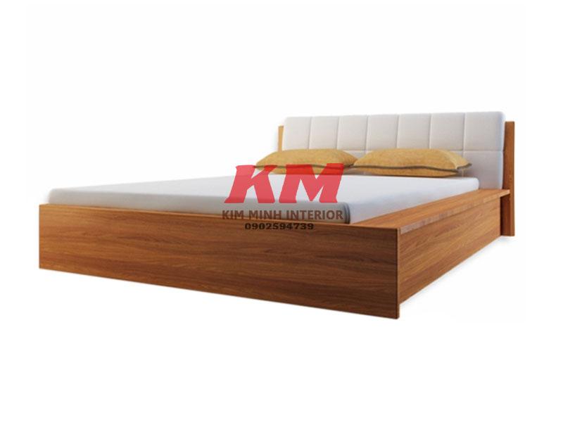 Giường Ngủ Gỗ MDF Bọc Nệm