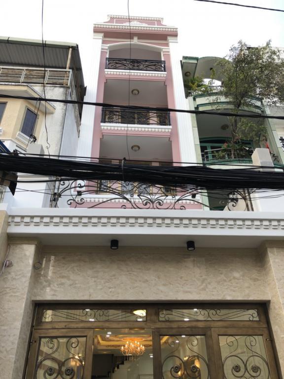 Bán nhà mới mặt tiền đường Lê Trực Phường 7 Bình Thạnh 4 lầu