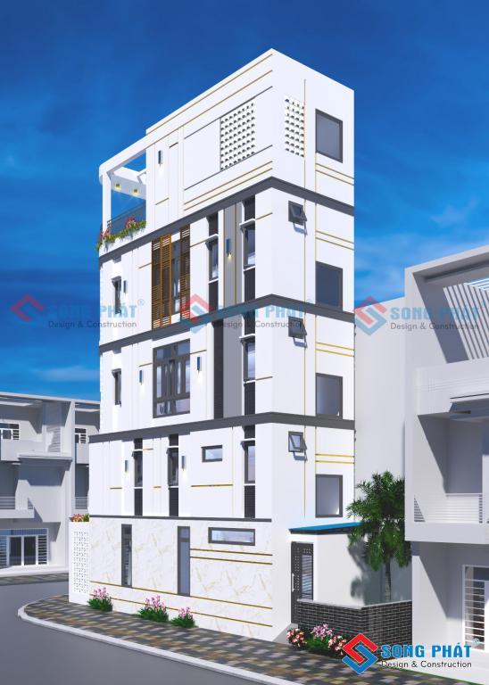 Mẫu nhà 5 tầng 40m2 trọn gói cả nội thất 1 tỷ 5