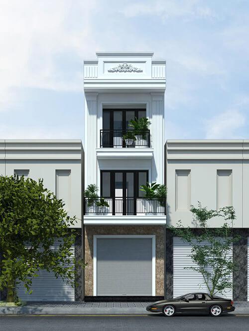 Các mẫu nhà phố tân cổ điển đẹp năm 2021 từ kiến trúc sư