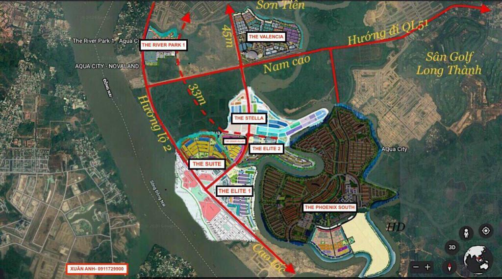 Bán nhanh căn biệt thự đơn lập dự án khu đô thị sinh thái Aqua City, Biên Hoà, Đồng Nai LH:0911729900