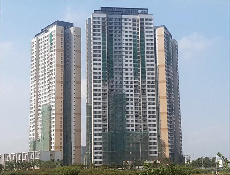 Bán căn hộ Palm Height, 2 phòng ngủ, diện tích 79.4m2, bàn giao thô, giá 3.75 tỷ.