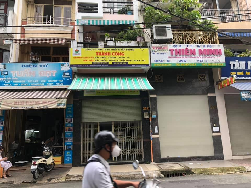 Cho thuê MTKD điện tử đường Tân Phước P6 Q10