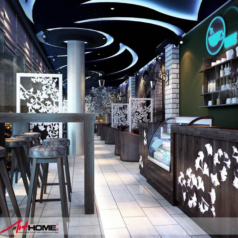 Thiết kế nội thất quán Cafe Snow tại tỉnh Điện Biên