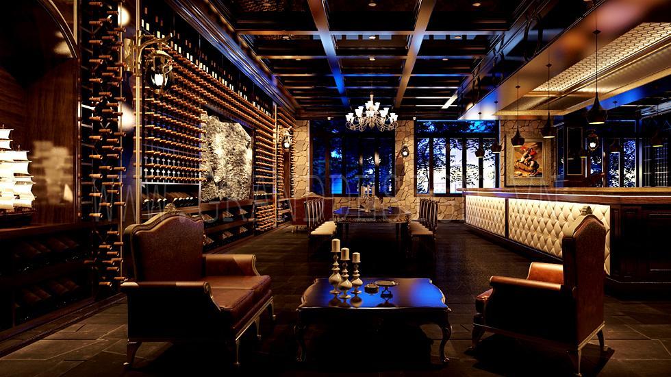 Thiết kế Nội thất Nhà hàng Rượu  trong tổ hợp Sân golf Long Biên