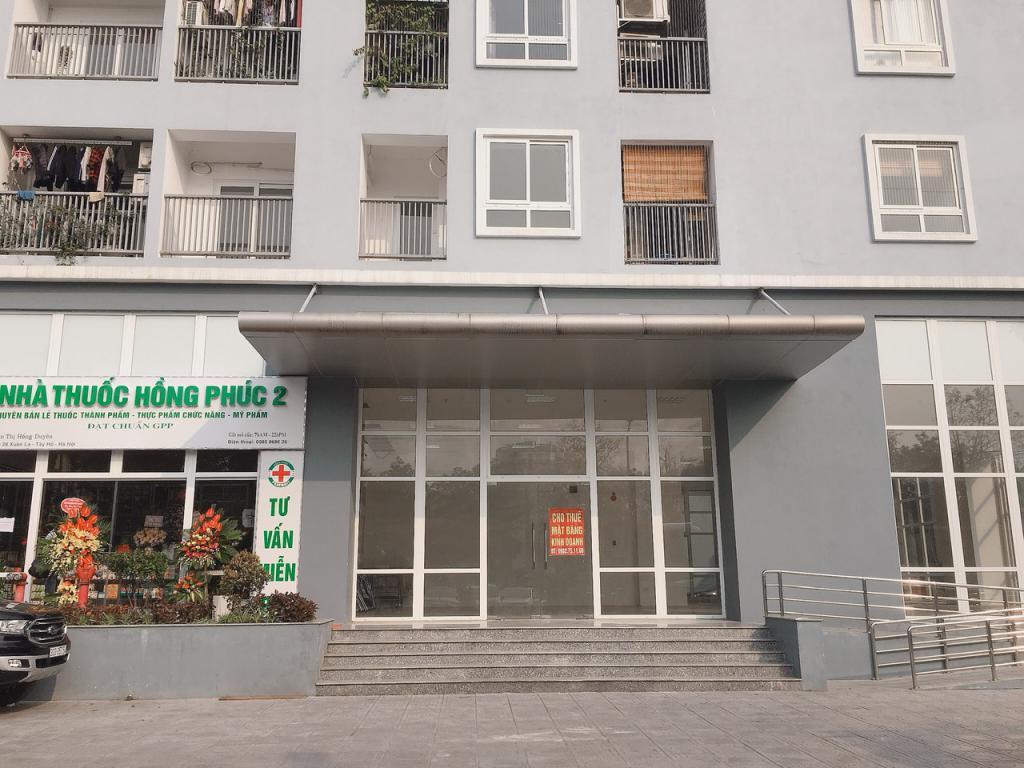 Cho thuê mặt bằng  tầng 1 tòa nhà CT36- Bộ quốc phòng, phường Xuân La, Quận Tây Hồ, Hà Nội