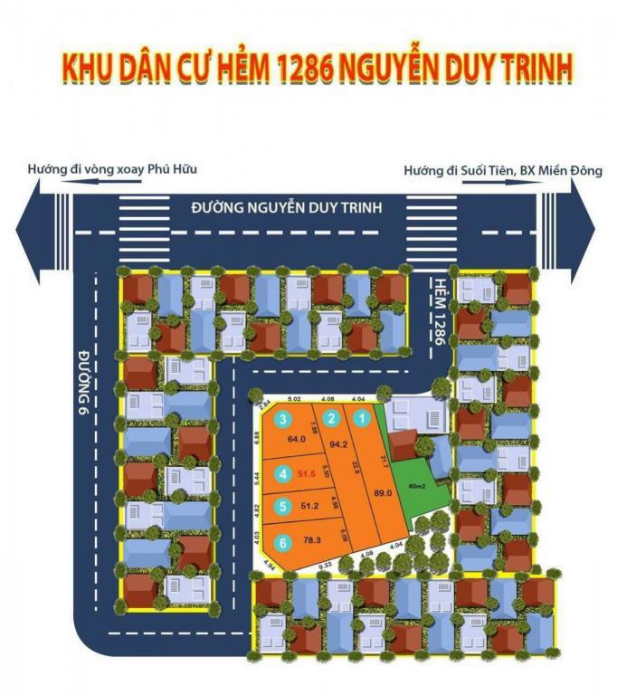 Bán đất hẻm 1286. Nguyễn Duy Trinh. Quận 9.