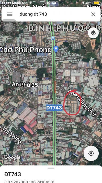 Bán 15 lô đất phường An Phú, thị xã Thuận An .  Dt. Trên dưới 100m2/lô