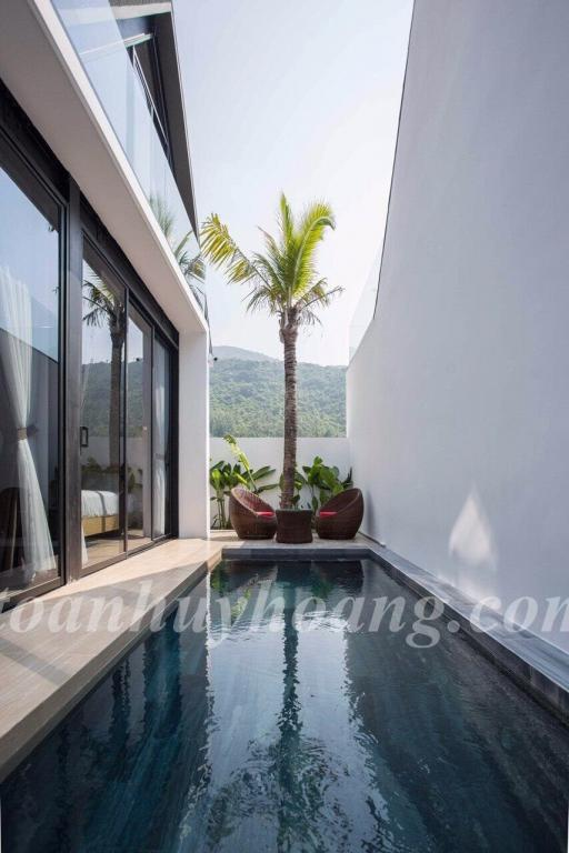 ID: V0213; Cho thuê villa hồ bơi 200m2, 4 phòng ngủ, full nội thất