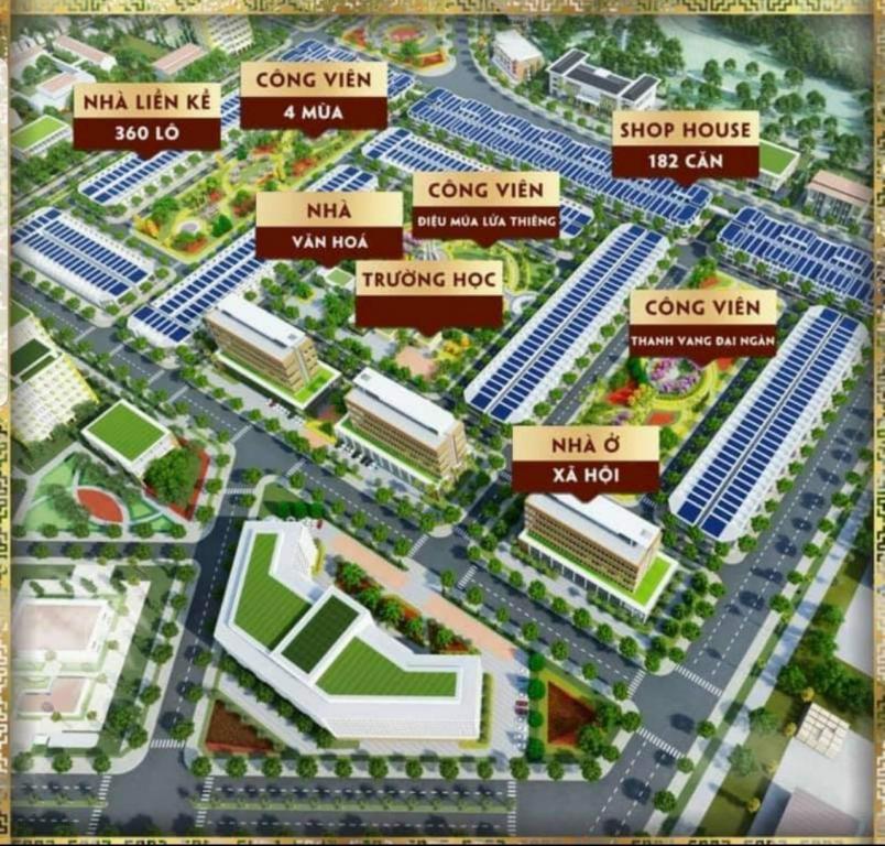 Đất nền nhà ở thương mại mang phong cách Châu Âu nằm trong Tp. Buôn Mê Thuộc - Sổ đỏ từng lô