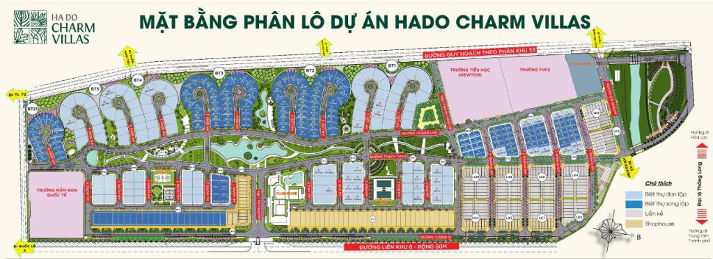 Hà Đô Charm Villas - KĐT Sinh Thái  mật độ 18,1% Điểm dừng chân Tổ Ấm mới
