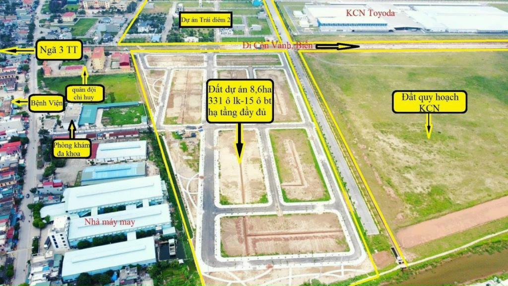 Bán đất nền Trái Diêm 3 đối diện với KCN Toyoda Gosei Tiền Hải