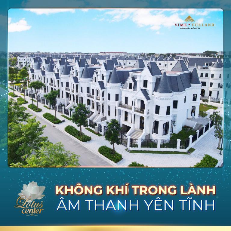 Biệt thự lâu đài phố Vimefulland Tây Hồ The Lotus Center - Ciputra - Tây Hồ - Hà Nội.